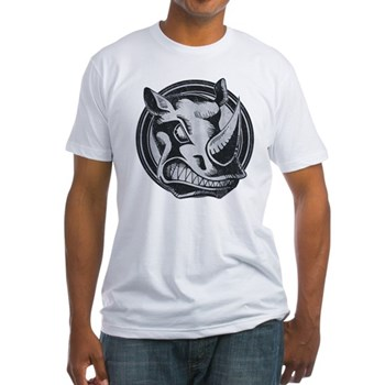 Distressed Wild Rhino Stamp Fitted T-Shirt