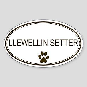 Oval Llewellin Setter Oval Sticker