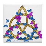 Butterfly Triquetra Tile Coaster