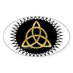 Triquetra Oval Sticker