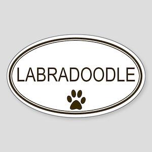 Oval Labradoodle Oval Sticker
