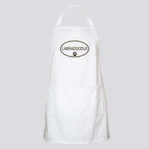 Oval Labradoodle BBQ Apron