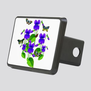 Violets and Butterflies Hitch Cover