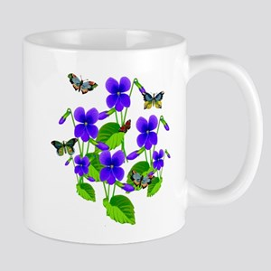 Violets and Butterflies Mug