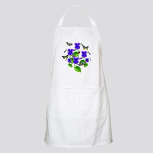 Violets and Butterflies Apron