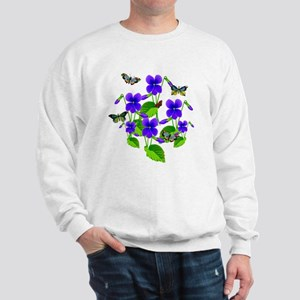 Violets and Butterflies Sweatshirt