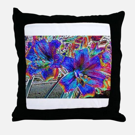 Amaryllis Lilies Throw Pillow
