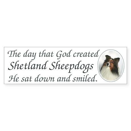 """God Smiled"" Bumper Sticker"