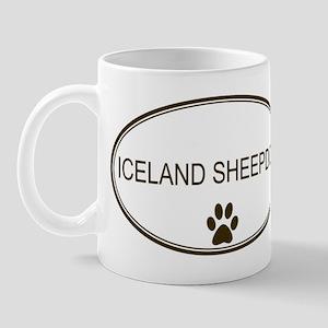 Oval Iceland Sheepdog Mug