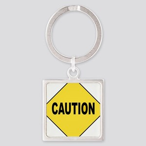 Caution Sign Keychains