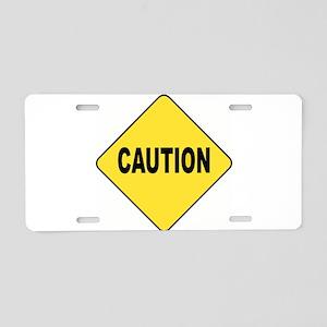 Caution Sign Aluminum License Plate