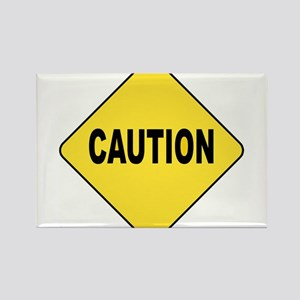 Caution Sign Rectangle Magnet