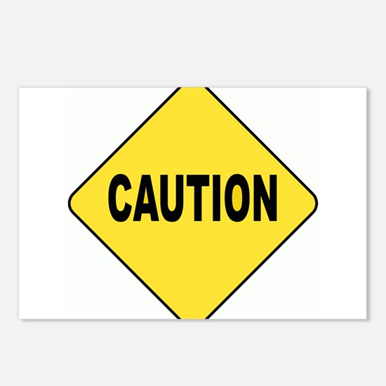 Caution Sign Postcards (Package of 8)