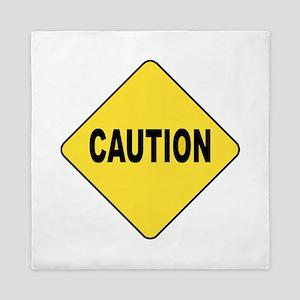 Caution Sign Queen Duvet