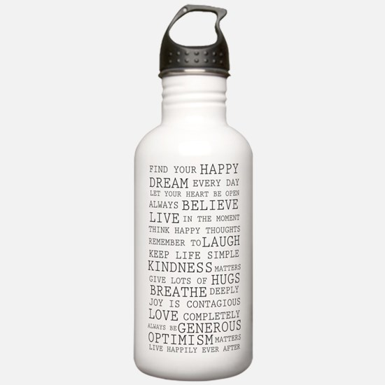 Positive Thoughts Water Bottle