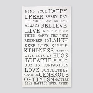 Positive Thoughts 3'x5' Area Rug