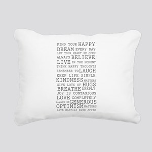 Positive Thoughts Rectangular Canvas Pillow