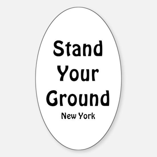 Stand Your Ground (black) Sticker (Oval)