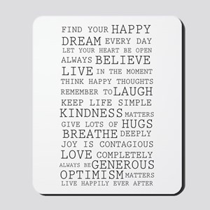 Positive Thoughts Mousepad
