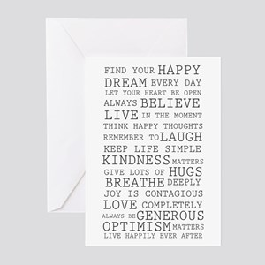 Black and white greeting cards cafepress positive thoughts greeting cards pk of 10 m4hsunfo