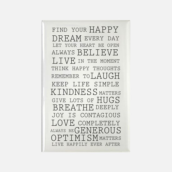 Positive Thoughts Rectangle Magnet