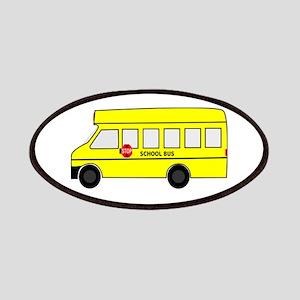 Cartoon School Bus Patches
