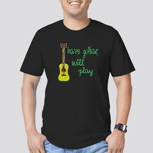 Have Guitar Will Play Men's Fitted T-Shirt (dark)
