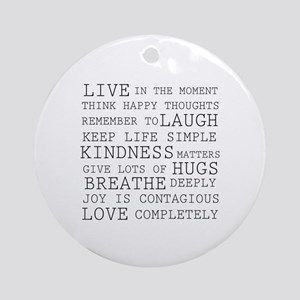 Positive Thoughts Ornament (Round)