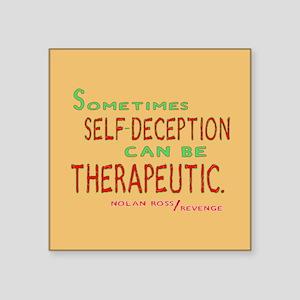 """Revenge Self-Deception Quote Square Sticker 3"""" x 3"""