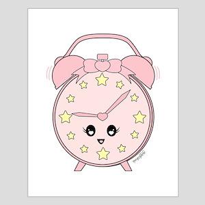 Cute Pink Alarm Clock Posters