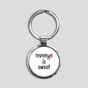 Double Infinity G Revenge is Sweet Round Keychain