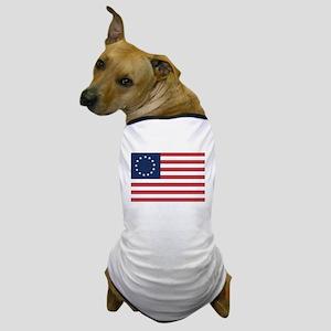 13 Star Colonial American Flag Dog T-Shirt