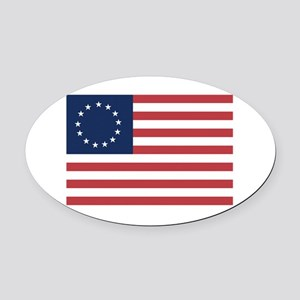 13 Star Colonial American Flag Oval Car Magnet