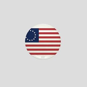13 Star Colonial American Flag Mini Button