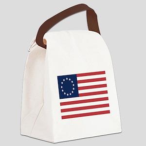 13 Star Colonial American Flag Canvas Lunch Bag