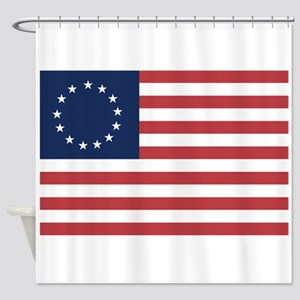 13 Star Colonial American Flag Shower Curtain