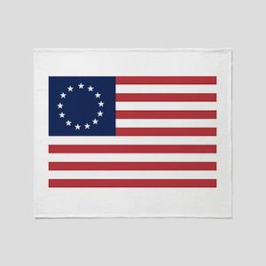 13 Star Colonial American Flag Throw Blanket