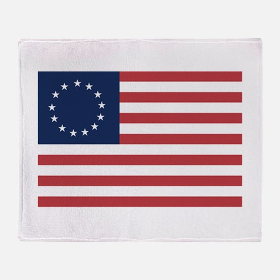13 Star Colonial American Flag Throw Blanket