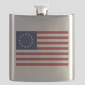 13 Star Colonial American Flag Flask