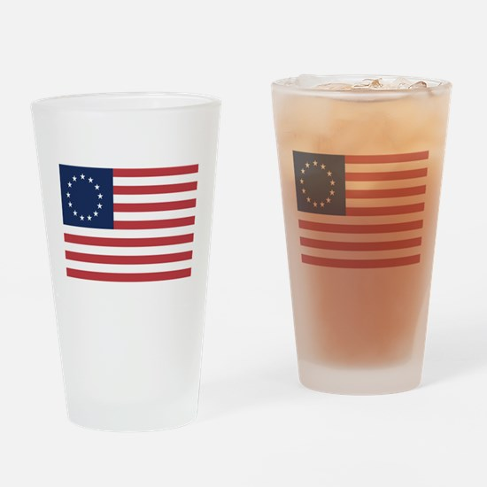 13 Star Colonial American Flag Drinking Glass
