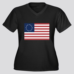 13 Star Colonial American Flag Plus Size T-Shirt