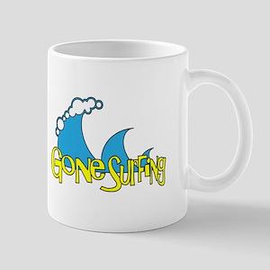 Gone Surfing   Surf and Beach Slogan Mug