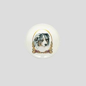 Merle Aussie Christmas/Holiday Mini Button