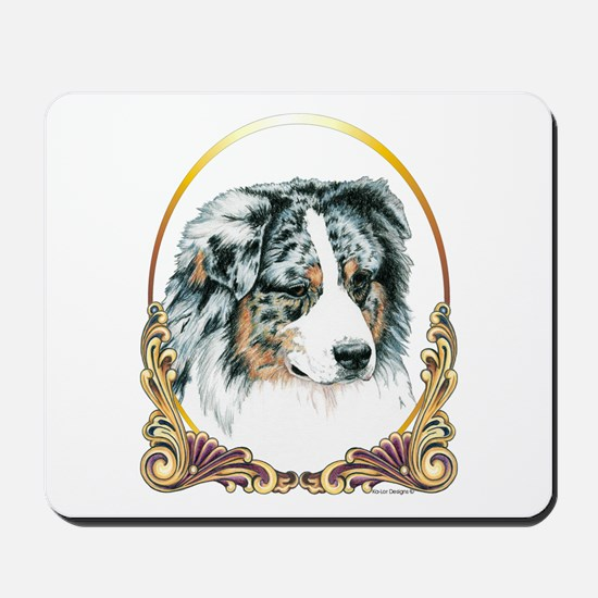 Merle Aussie Christmas/Holiday Mousepad