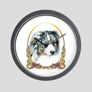 Merle Aussie Christmas/Holiday Wall Clock