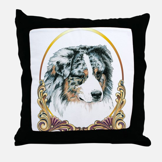 Merle Aussie Christmas/Holiday Throw Pillow