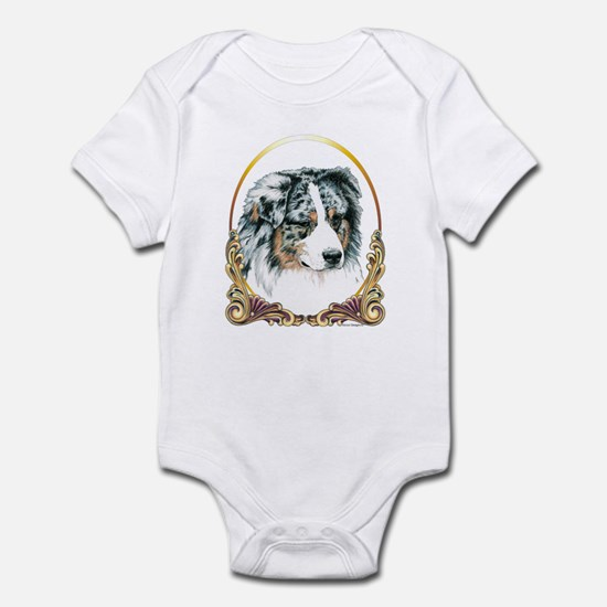 Merle Aussie Christmas/Holiday Infant Bodysuit