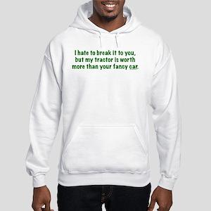 My tractor (green text) Hooded Sweatshirt