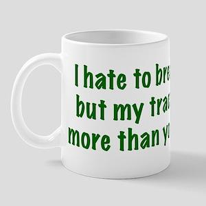 My tractor (green text) Mug
