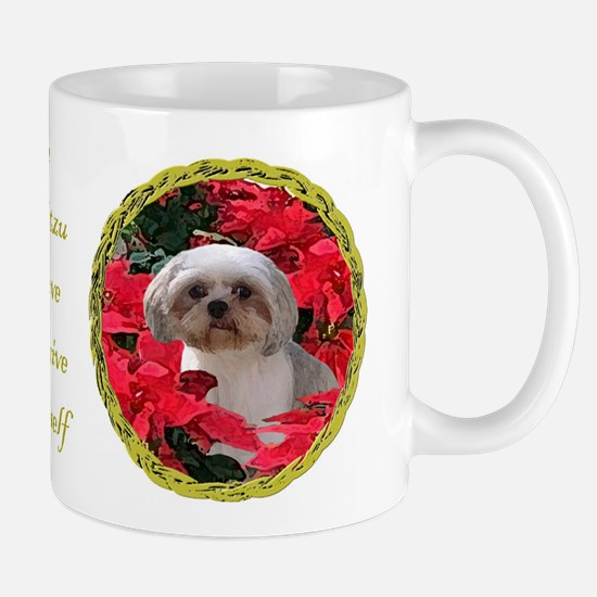 Shih Tzu Christmas Poinsettia Audrey Mug